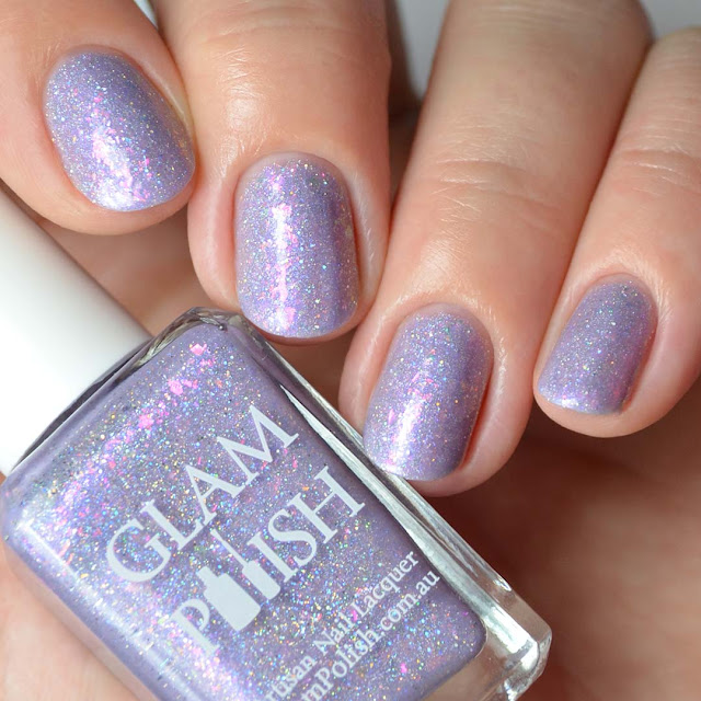 light purple holo nail polish