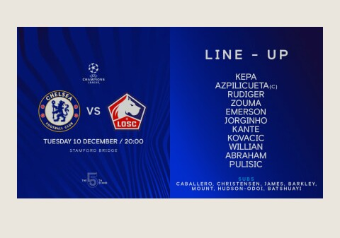 Champions League : Rudiger in starting XI to face Lille