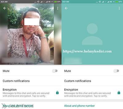 Foto profile kontak teman tidak terlihat