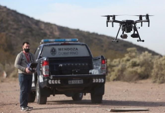 """Comenzó la """"Era del Drone"""" en la Policía de Mendoza"""