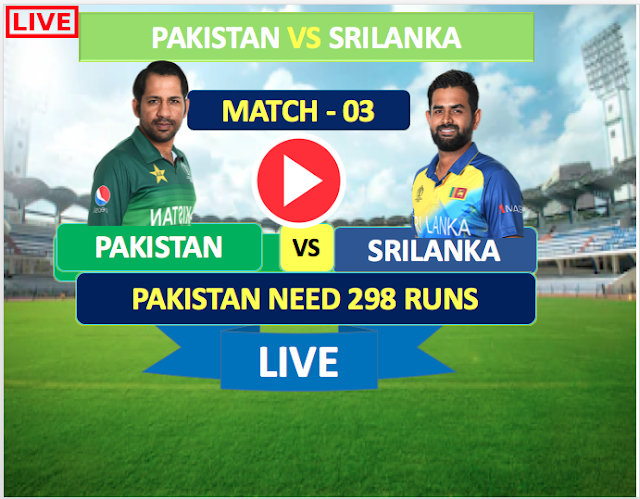 Pakistan vs Sri Lanka, 3rd ODI - Live Cricket Streaming, Pakistan need 298 runs