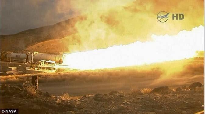 Dahsyat, Semburan Pendorong Roket Ke Mars Milik NASA
