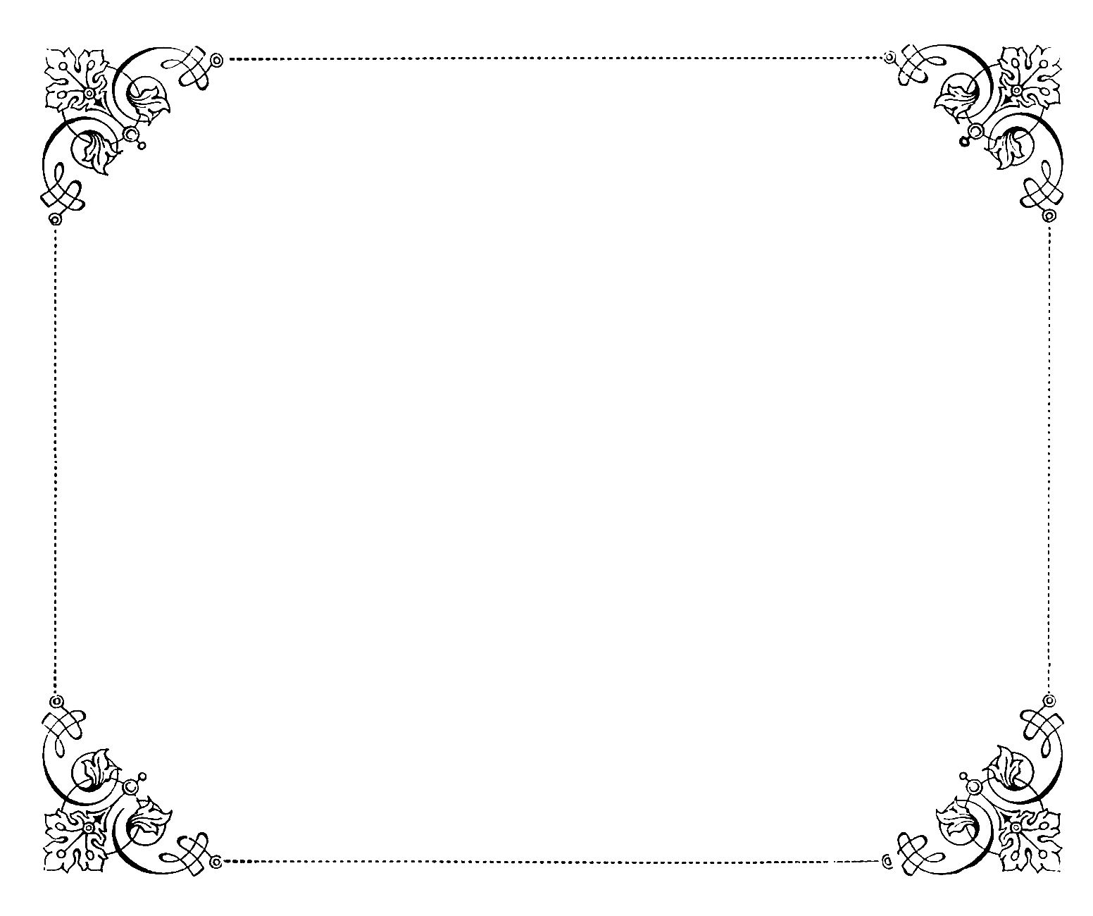 Digital Stamp Design: Free Frame Digital Stamp: Antique