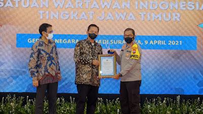 Kapolresta Sidoarjo Dinobatkan Sebagai Tokoh Kamtibmas dalam PWI Award 2021