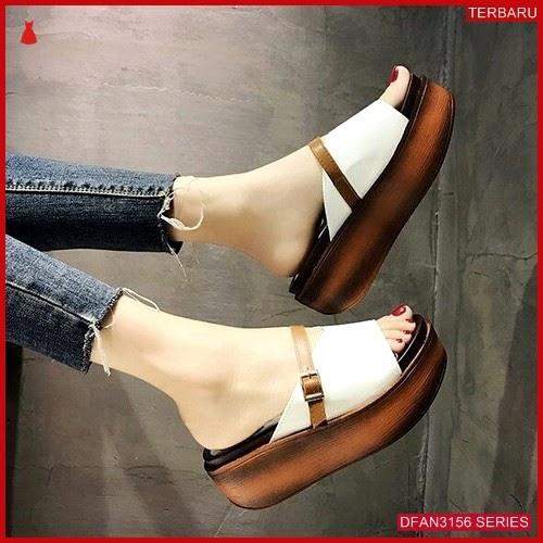 DFAN3156S87 Sepatu Wa 22 Wedges Wanita Sol Tidak BMGShop