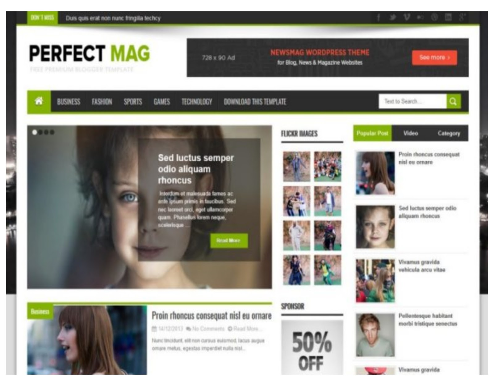 Prefect Mag Blogger Template