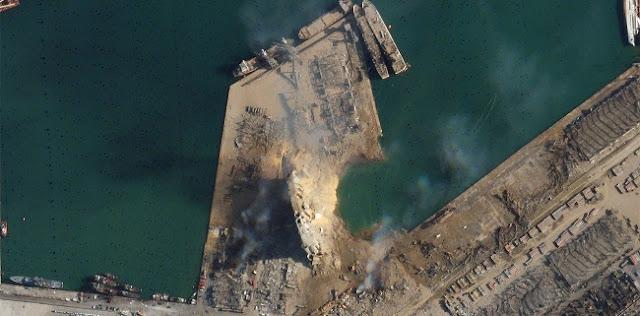 Ledakan Dahsyat Beirut Bentuk Kawah Selebar 124 Meter, Lebih Panjang Dari Lapangan Sepak Bola
