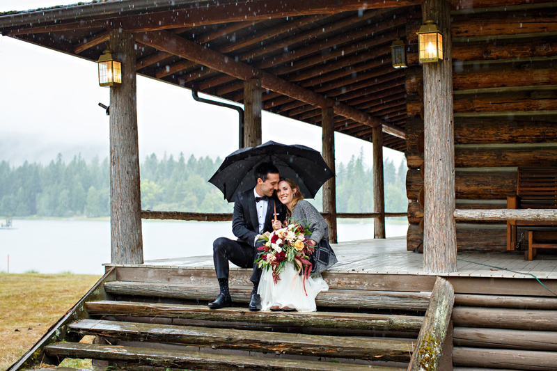 Bigfork Wedding / Photography: Brooke Peterson / Wedding Coordinator: Courtney of 114-West / Venue: Kootenai Lodge / Bride's Bouquet: Mum's Flowers / Bride's Gown: J.Crew / Groom's Tux: J.Crew / Makeup Artist: Britlee of Envy Salon & Spa / Videography: Rainy Parade Films