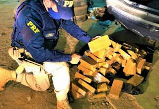 PRF apreende 89 kg de pasta base de cocaína na BR-030 em Caetité