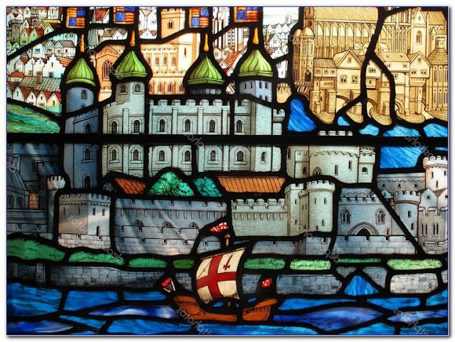 Tudor Style Stained GLASS WINDOW Film