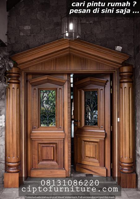 desain pintu minimalis kaca dan kusen