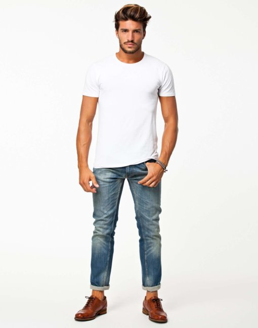 Pima SS O-Neck NOOS Selected Homme