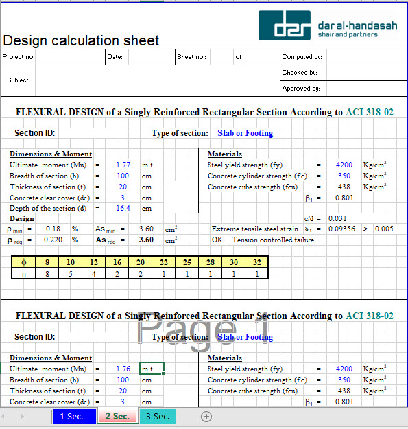 Flexural Design of a Singly Reinforced Rectangular Section According