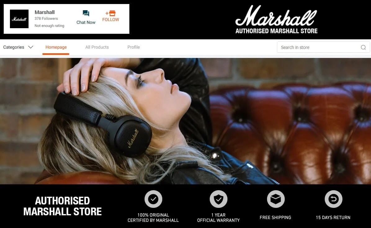 Marshall Lazada Official Store Now Open; Offers Huge Discounts Until August 31