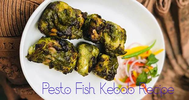 Pesto Fish Kebab Recipe