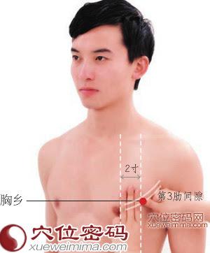胸鄉穴位 | 胸鄉穴痛位置 - 穴道按摩經絡圖解 | Source:xueweitu.iiyun.com