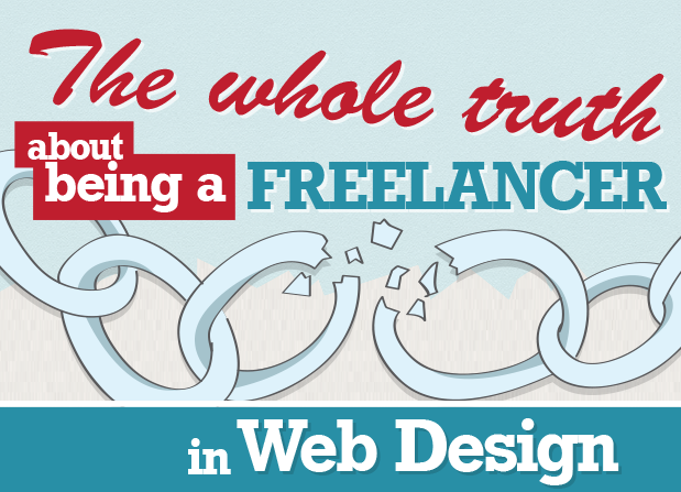 The Whole Story OF A Freelancer In A web design  #Infographic