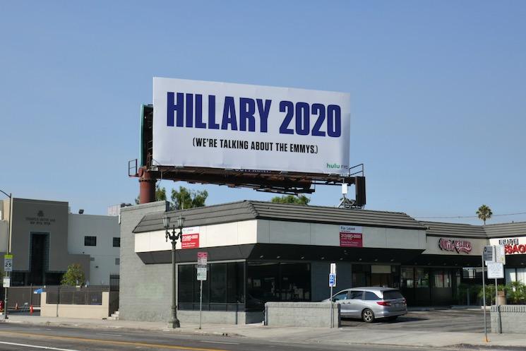Hillary 2020 Emmys nominee billboard
