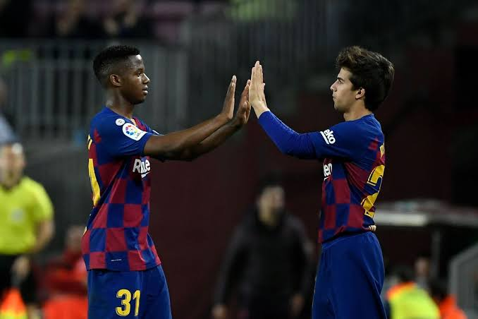 Riqui Puig and Ansu Fati could both start against Napoli