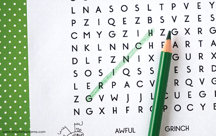 Free Printable Grinch Word Search