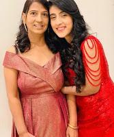 Sameeksha sud with here mother