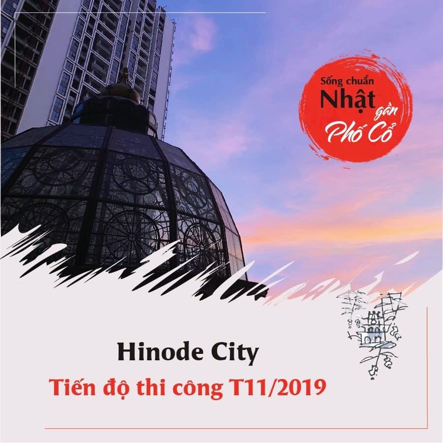 Cập nhật tiến độ thi công Hinode City tháng 11/2019