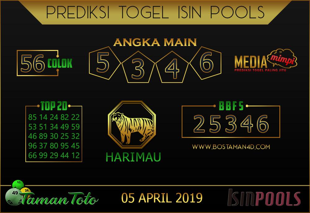 Prediksi Togel ISIN TAMAN TOTO 05 APRIL 2019