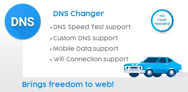 تنزيل DNS Changer - تطبيق تغيير DNS  دون الحاجة إلى وضع جهازك على خاصية الروت