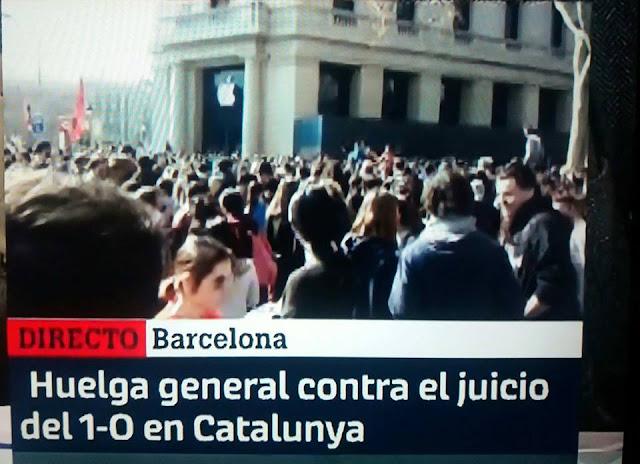 El independentismo en Huelga General por el juicio del procés