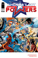 America's Got Powers #5  Script: Jonathan Ross Art: Bryan Hitch Inks: Paul Neary, Jason Paz Colors: Paul Mounts Letters: Chris Eliopoulos