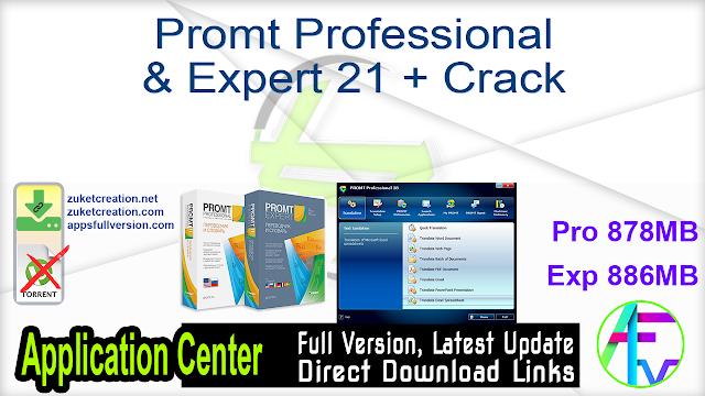 Promt Professional & Expert 21 + Crack