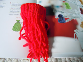 Easy to make yarn hat ornaments
