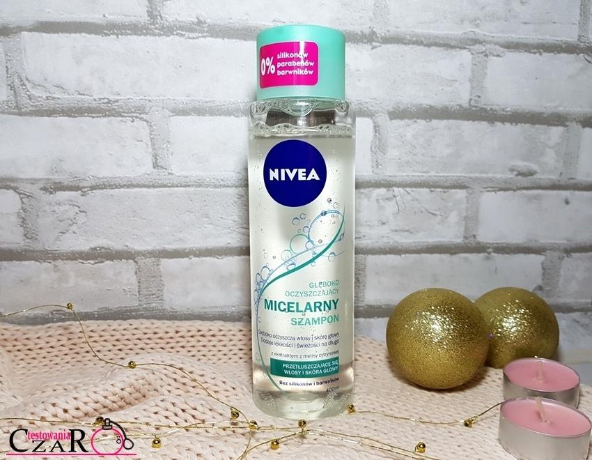Głęboko Oczyszczający Micelarny Szampon z ekstraktem z melisy cytrynowej Nivea