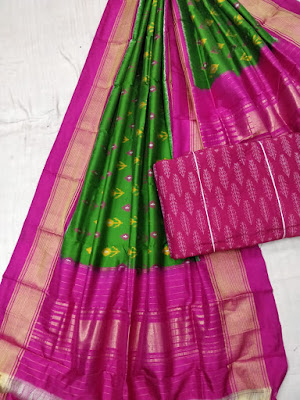 Adorable new Ikkat pure silk dress material