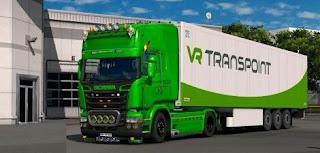 Scania R & Streamline Modifications V2.0 for ETS2 v1.25 Euro Truck Simulator 2 Mod