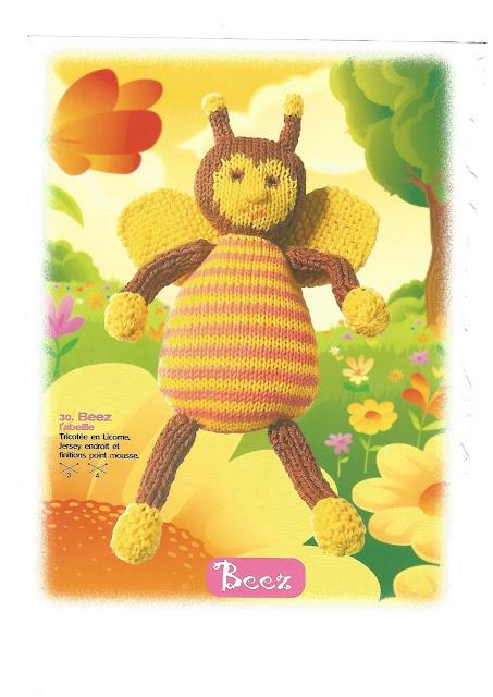 Doudou abeille au crochet