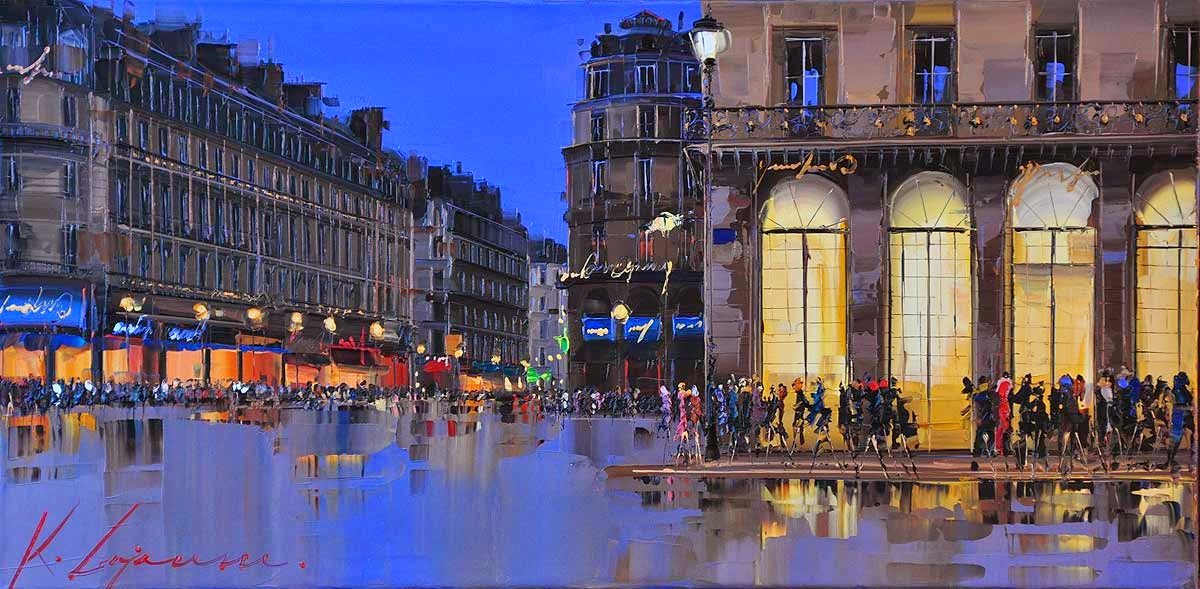35-Place-de-l-Opéra-Kal-Gajoum-Paintings-of-Dream-Like Cities-of-the-World-www-designstack-co