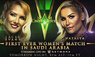 WWE Crown Jewel - Lacey Evans .vs. Natalya