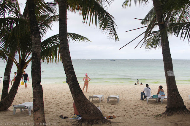 Beach view of Boracay Island, Philippines