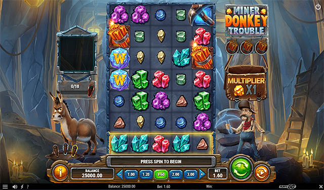 Main Gratis Slot Indonesia - Miner Donkey Trouble (Play N GO)