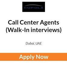 Walk-in interviews For Contact Centre agents in Cupola Teleservices Limited,  Dubai | Interview On 3rd May, 2021 | Registration Now