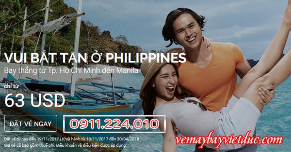 Book vé khuyến mãi đi philippines của air asia