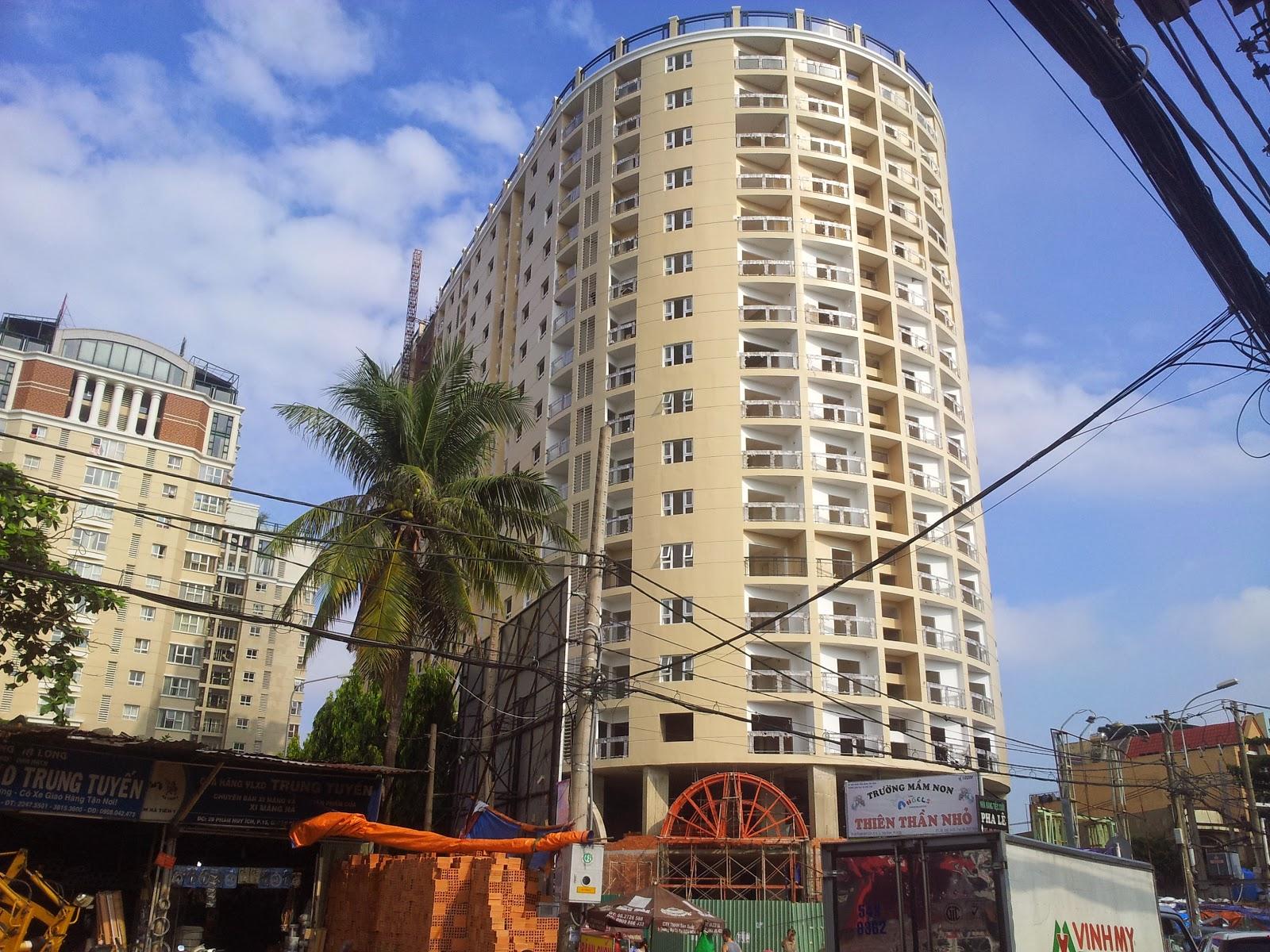 Căn hộ Phúc Yên 2 quận Tân Bình - Tiến độ thi công mới nhất (28/10/2014)