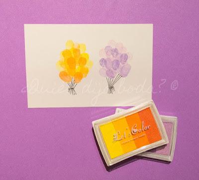 Ejemplo de árbol de huellas con distintos tonos de un mismo color