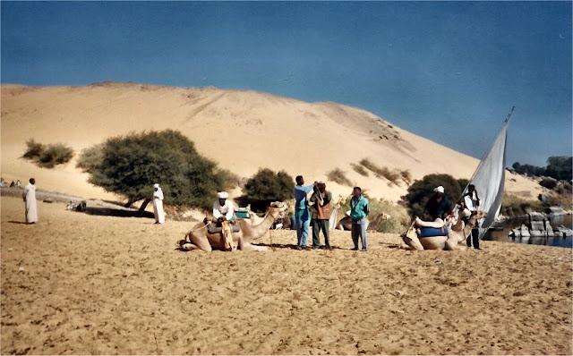 Asuán. Camelleros