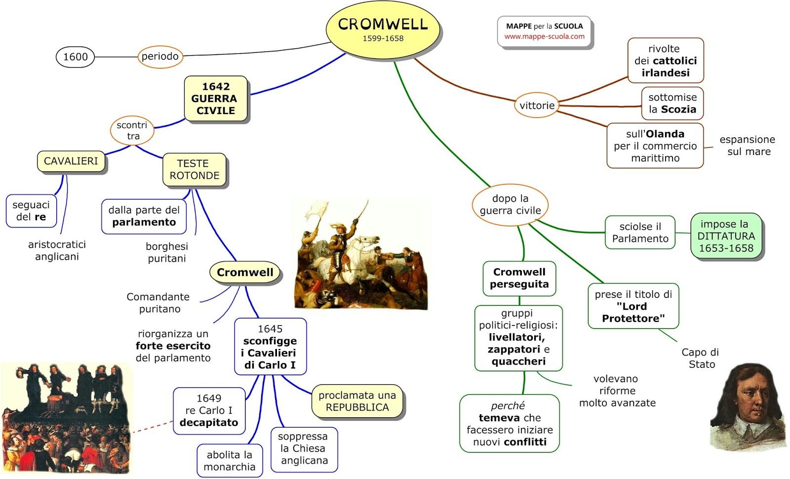 Mappe per la scuola oliver cromwell for Nuovo design per l inghilterra