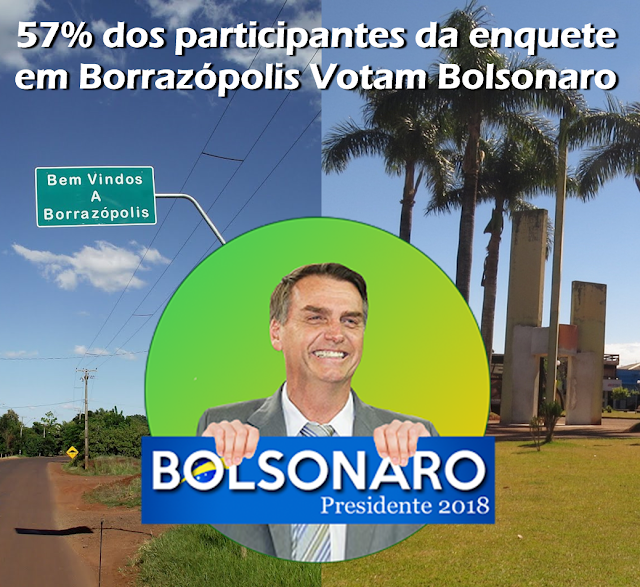 BORRAZÓPOLIS - BOLSONARO TEM QUASE 60% DOS ELEITORES