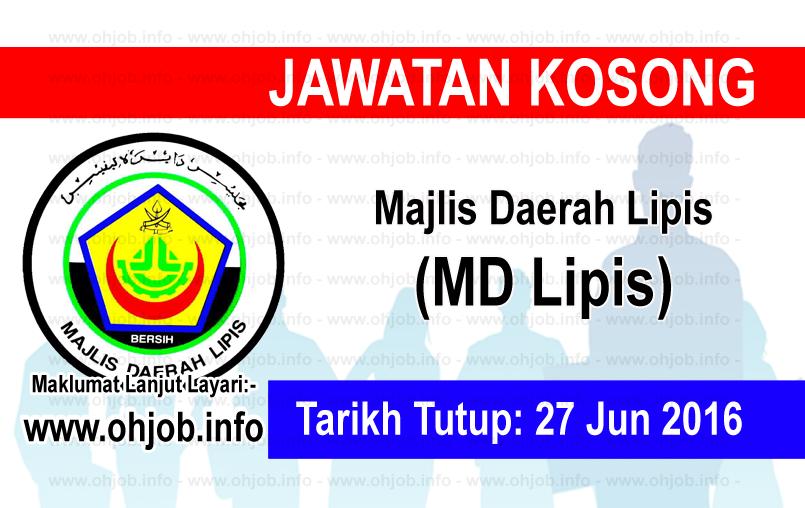 Jawatan Kerja Kosong Majlis Daerah Lipis (MDLipis) logo www.ohjob.info jun 2016