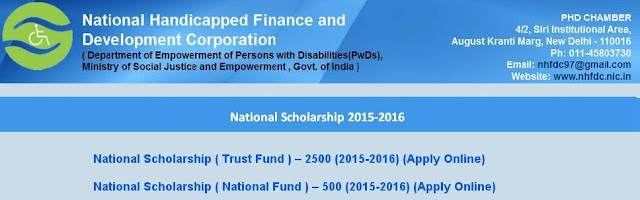National Scholarships for persons with Disabilities