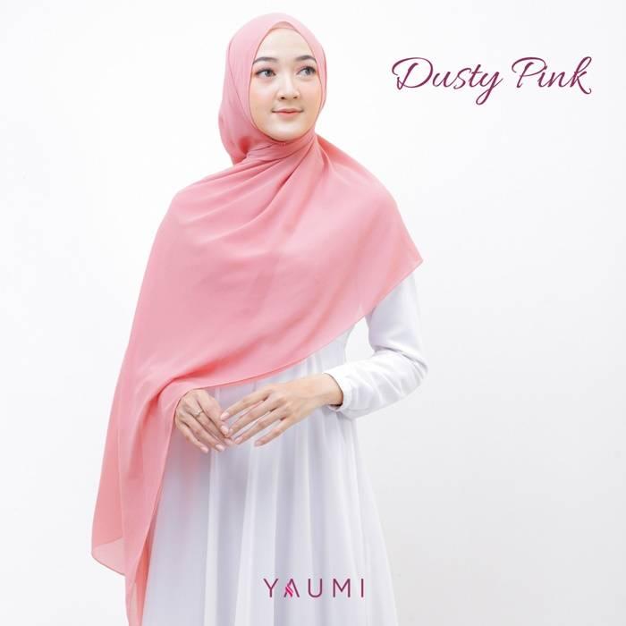 Yaumi Hijab Pashmina Dusty Pink